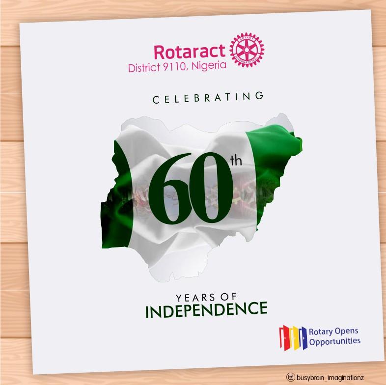 ROTARACT DISTRICT 9110 NIGERIA CELEBRATES NIGERIA AT 60