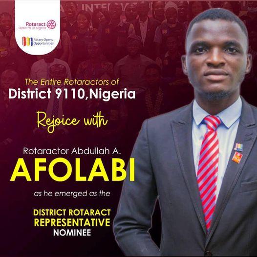 RTR. Afolabi A. Abdullahi EMERGES THE DRRN R.I.D9110 2020/2021